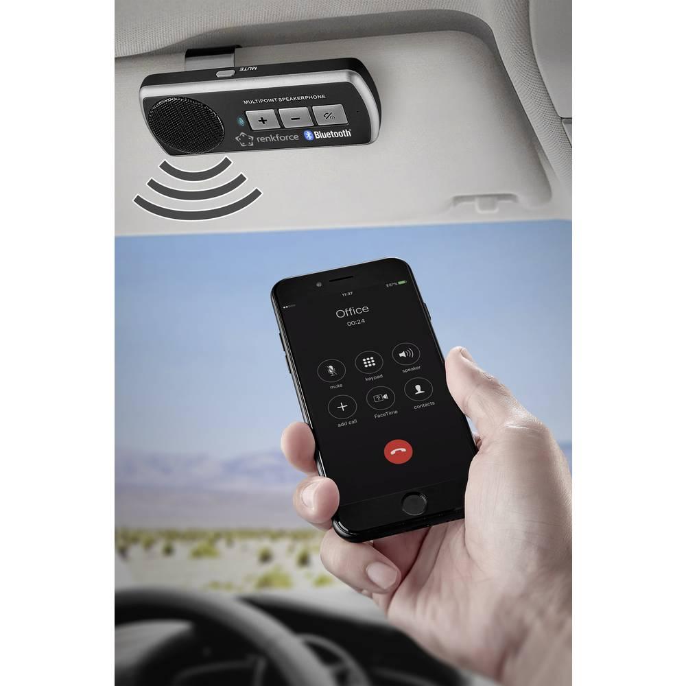 Renkforce RF-BTFE-1000 handsfree s Bluetooth doba hovoru (max.): 7.5 h