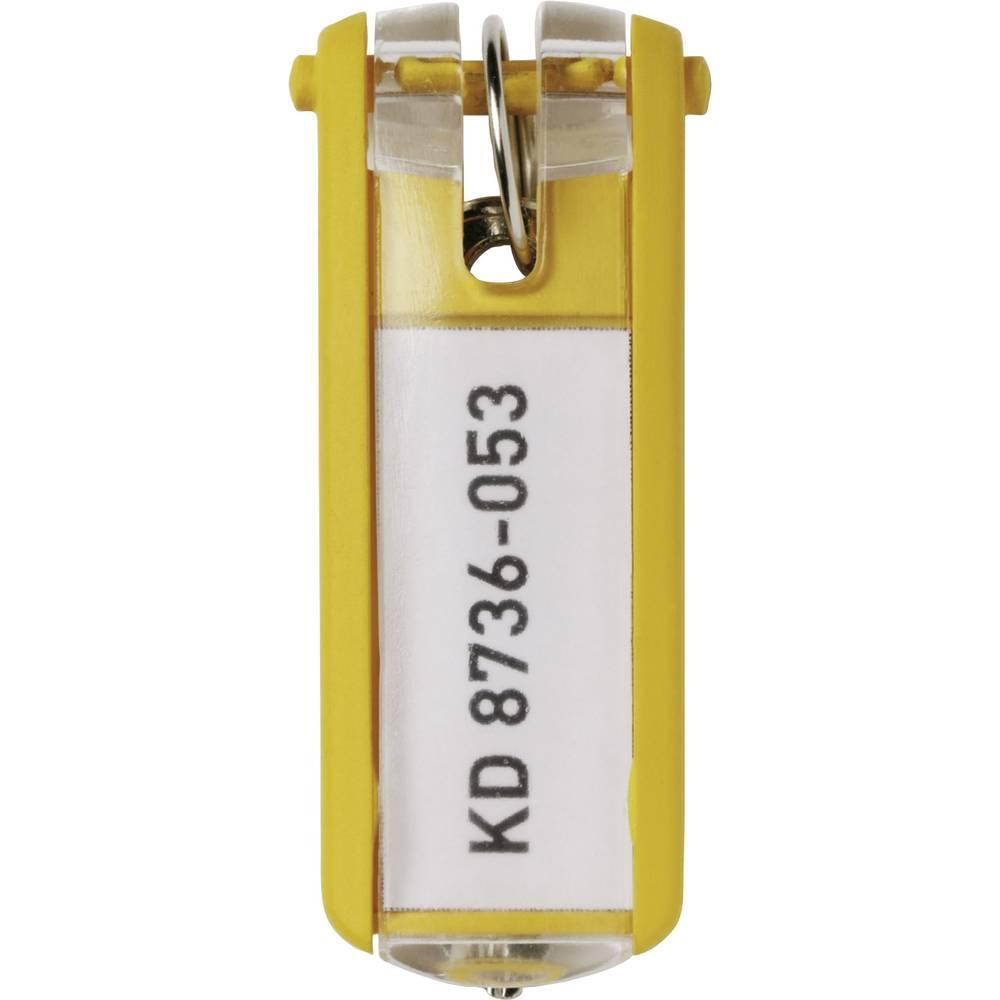 Durable věšák na klíče 195704 KEY CLIP - 1957 žlutá 6 ks