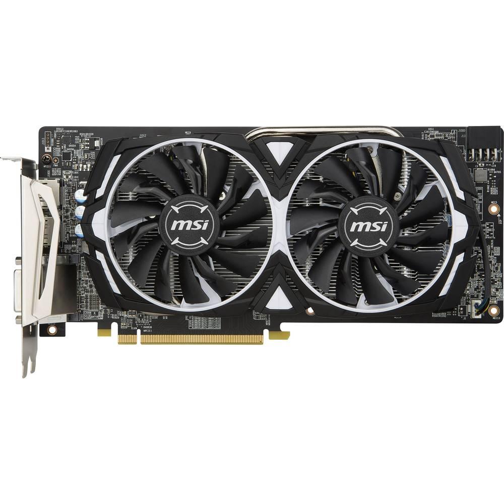 MSI Gaming grafická karta AMD Radeon RX 580 Armor 8 GB GDDR5 RAM PCIe x16 DisplayPort, HDMI™, DVI