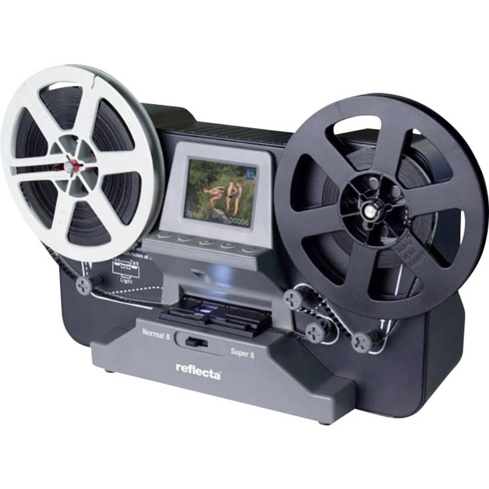 Reflecta Super 8 Normal 8 filmový skener 1440 x 1080 pix pro film Super 8, normální svitkové filmy 8, TV výstup, se zásuvkou pro paměťová média, displej, digitalizace bez PC