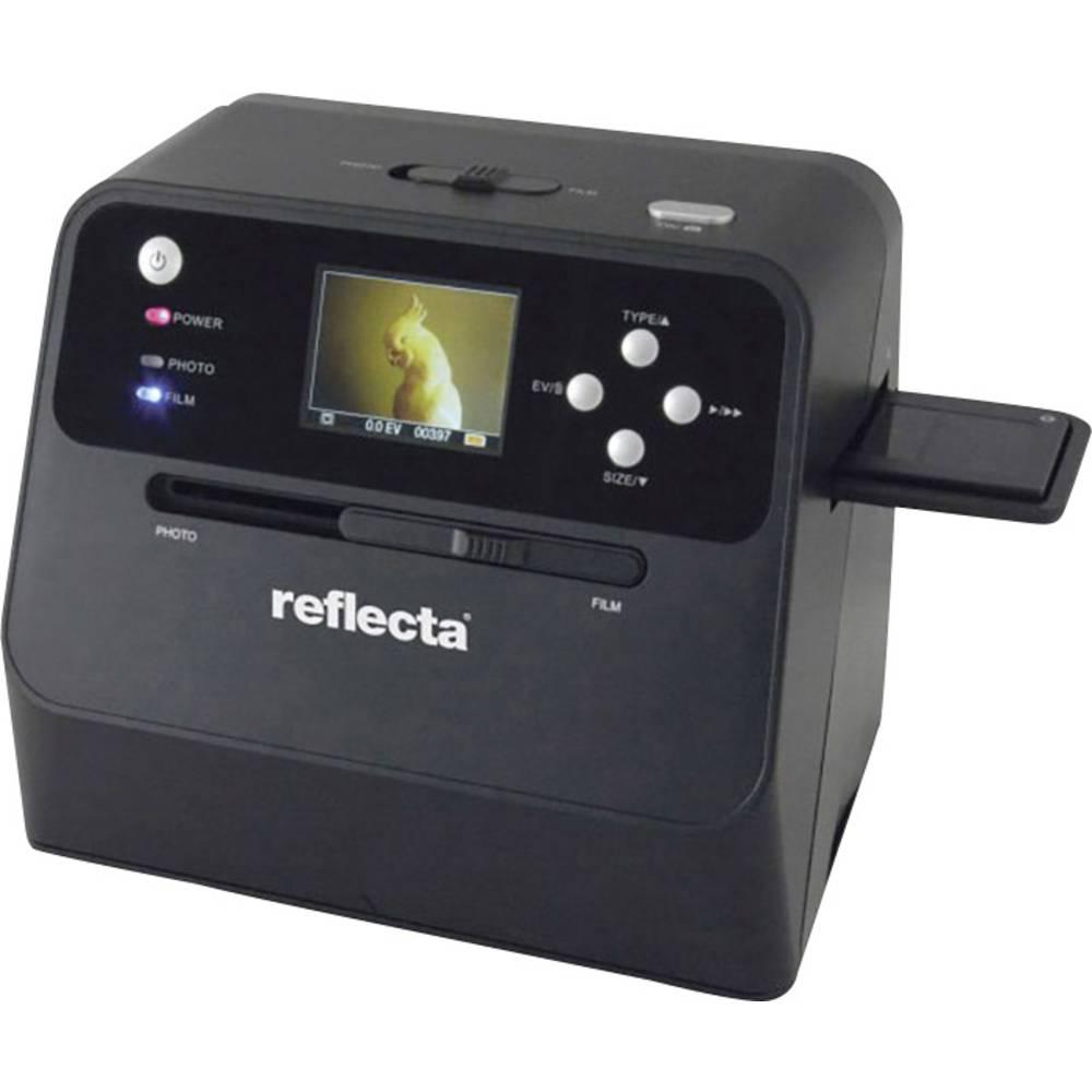 Reflecta Combo Album Scan skener negativů, skener diapozitivů, skener fotografií 4416 x 2944 pix lze napájet bateriemi, integrovaný displej, optimalizováno pro knihy, se zásuvkou pro paměťová média