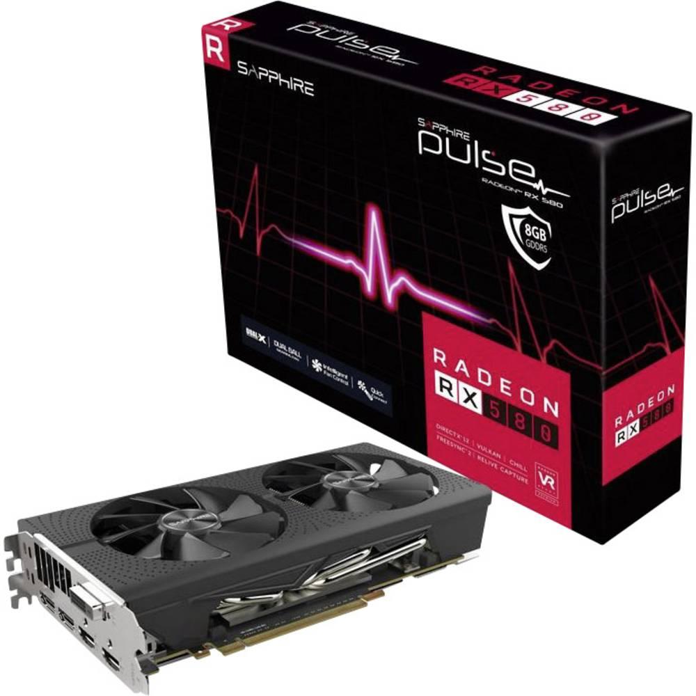 Sapphire grafická karta AMD Radeon RX 580 Pulse 8 GB GDDR5 RAM PCIe x16 HDMI™, DVI, DisplayPort