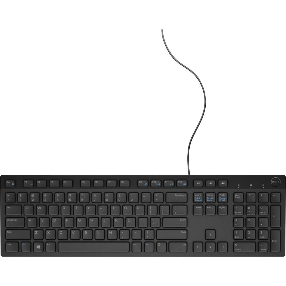 Dell KB216 USB Klávesnice německá, QWERTZ, Windows® černá