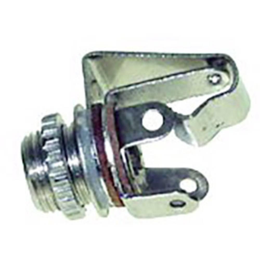 TRU COMPONENTS 1559776 jack konektor 6.35 mm zásuvka, vestavná Pólů: 3 stereo stříbrná 1 ks