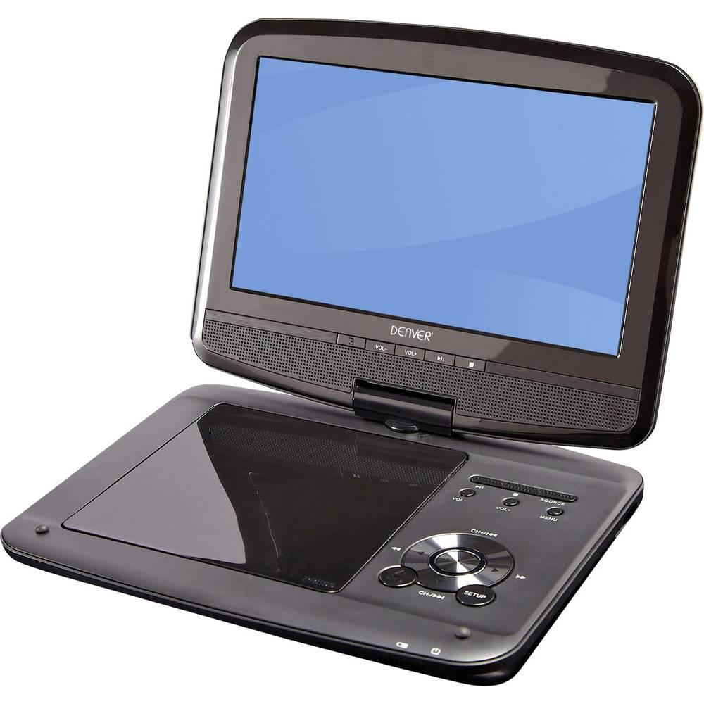 Denver MT-980T2H Přenosná TV s DVD přehrávačem 22.86 cm 9 palec Energetická třída (EEK2021): A (A++ - E) napájení z akumulátoru, vč. 12V připojovacího kabelu do auta, s integrovaným DVD přehrávačem, vč. antény DVB-T černá