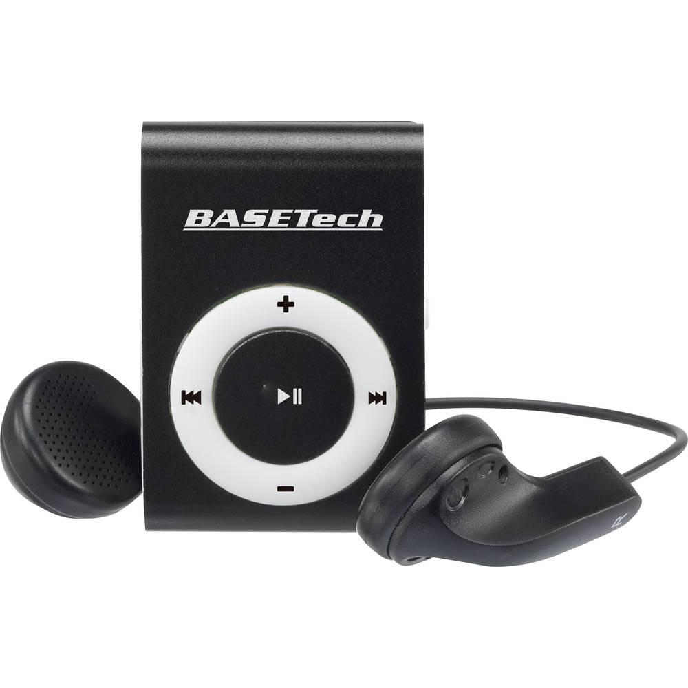 Basetech BT-MP-100 MP3 přehrávač 0 GB černá, bílá upevňovací klip