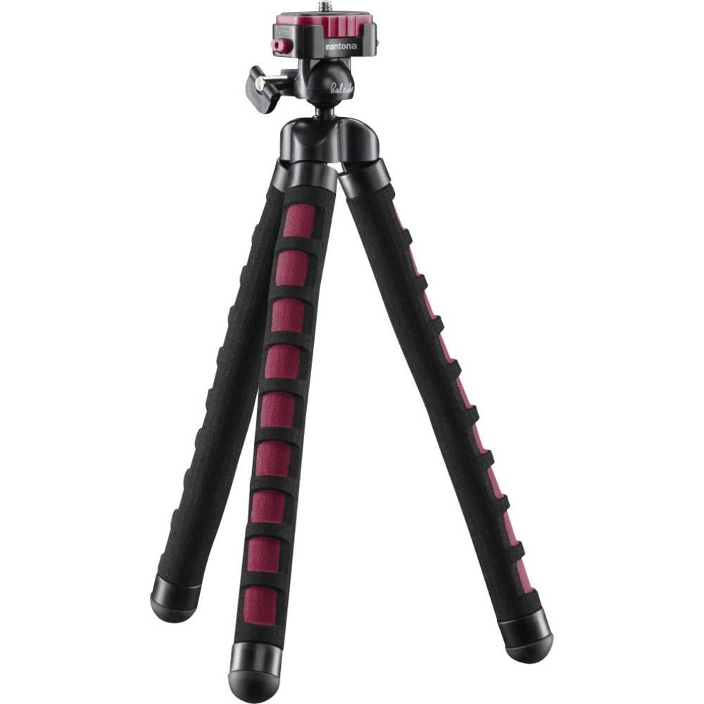 Mantona Flex foto stativ 1/4palcové min./max.výška=10 - 27 cm červená pro chytré telefony a akční kamery