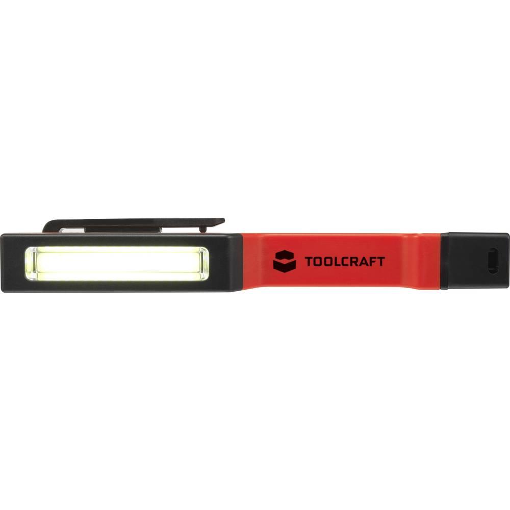 TOOLCRAFT 1593959 mini svítilna, penlight, pracovní svítidlo na baterii LED 31 mm, 19 mm červená/černá
