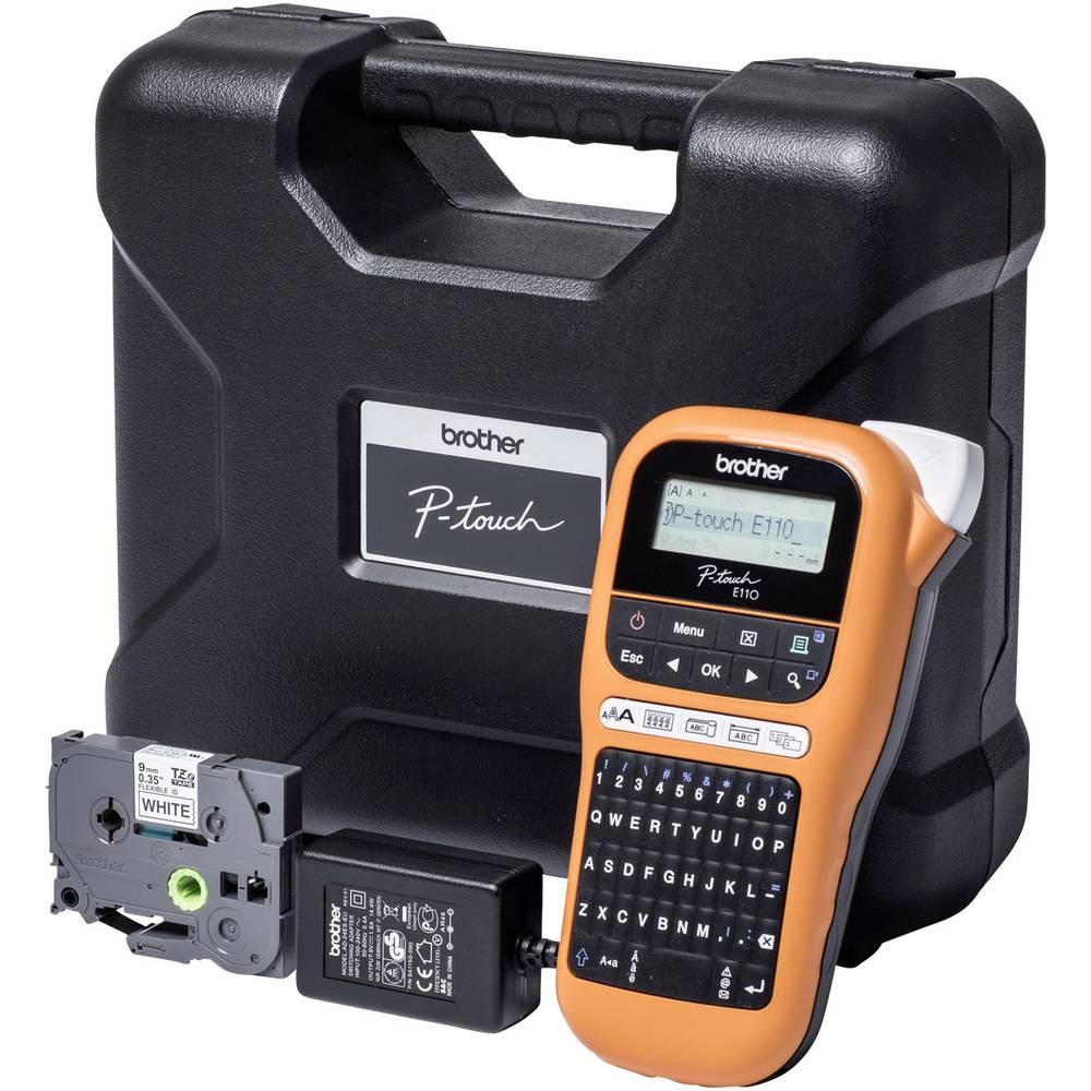 Brother P-touch E110VP štítkovač vhodné pro pásky: TZ 3.5 mm, 6 mm, 9 mm, 12 mm