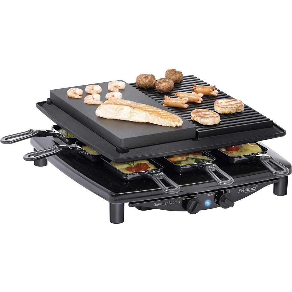 Steba Germany RC4 plus deluxe raclette gril 8 pánví černá