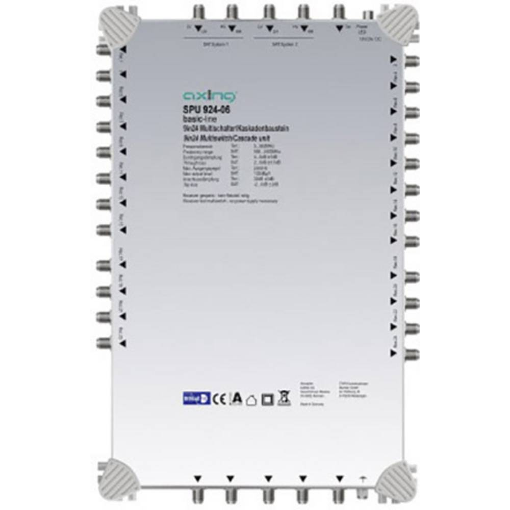Axing SPU 924-06 kaskádový rozdělovač pro satelitní signál Počet účastníků: 24
