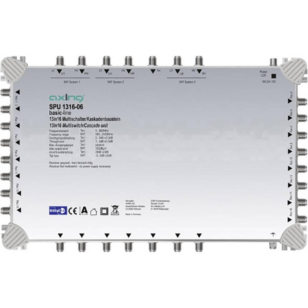 Axing SPU 1316-06 kaskádový rozdělovač pro satelitní signál Počet účastníků: 16