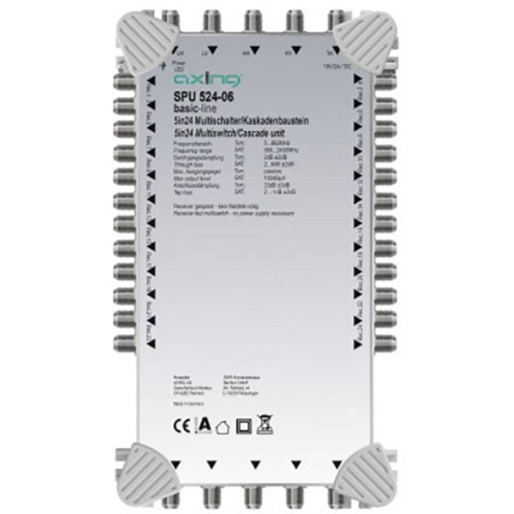 Axing SPU 524-06 kaskádový rozdělovač pro satelitní signál Počet účastníků: 24