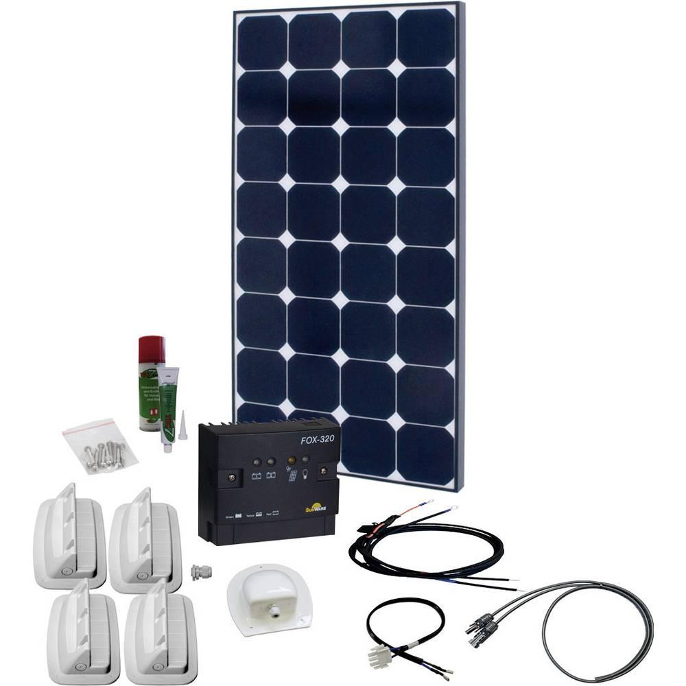 solární sada s 230V zásuvkou Phaesun SPR Caravan Peak Two 5.0 600329, 110 Wp, vč. nabíjecího regulátoru