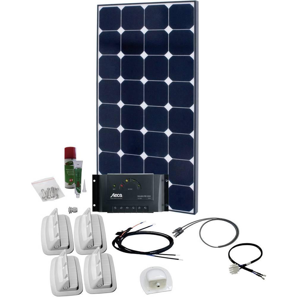 solární sada s 230V zásuvkou Phaesun SPR Caravan Peak One 6.0 600328, 110 Wp, vč. nabíjecího regulátoru