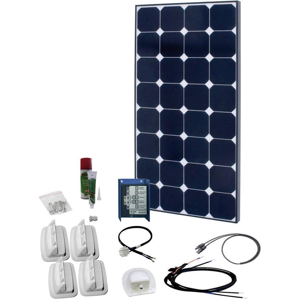 solární sada s 230V zásuvkou Phaesun SPR Caravan Peak Five 5.0 600332, 110 Wp, vč. nabíjecího regulátoru