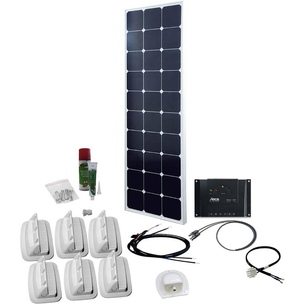 solární sada s 230V zásuvkou Phaesun SPR Caravan Peak Six 2.0 600333, 100 Wp, vč. nabíjecího regulátoru