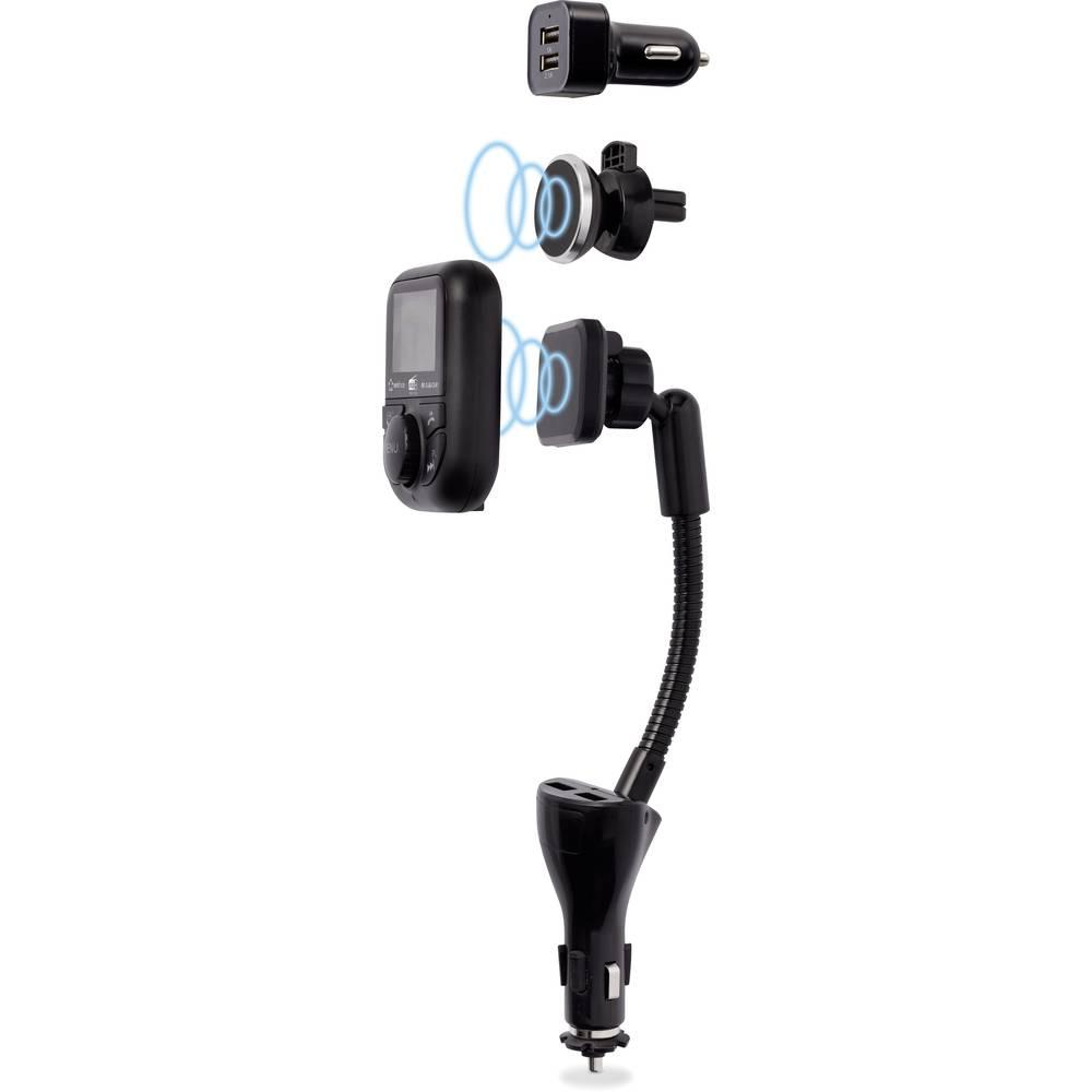 Renkforce RF-DAB-CAR1 DAB+ rádio adaptér do auta streamování hudby přes Bluetooth, funkce handsfree, funkce nabíjení