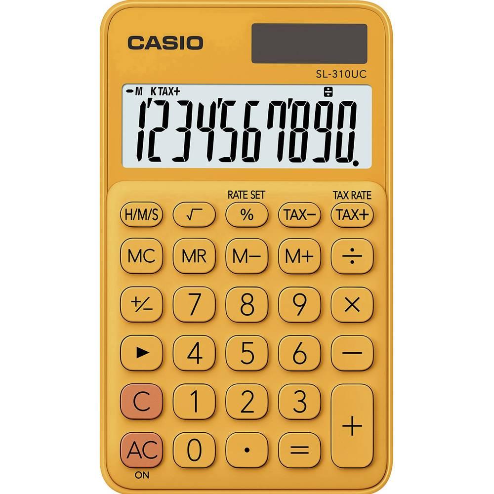 Casio SL-310UC kapesní kalkulačka oranžová Displej (počet míst): 10 solární napájení, na baterii (š x v x h) 70 x 8 x 118 mm