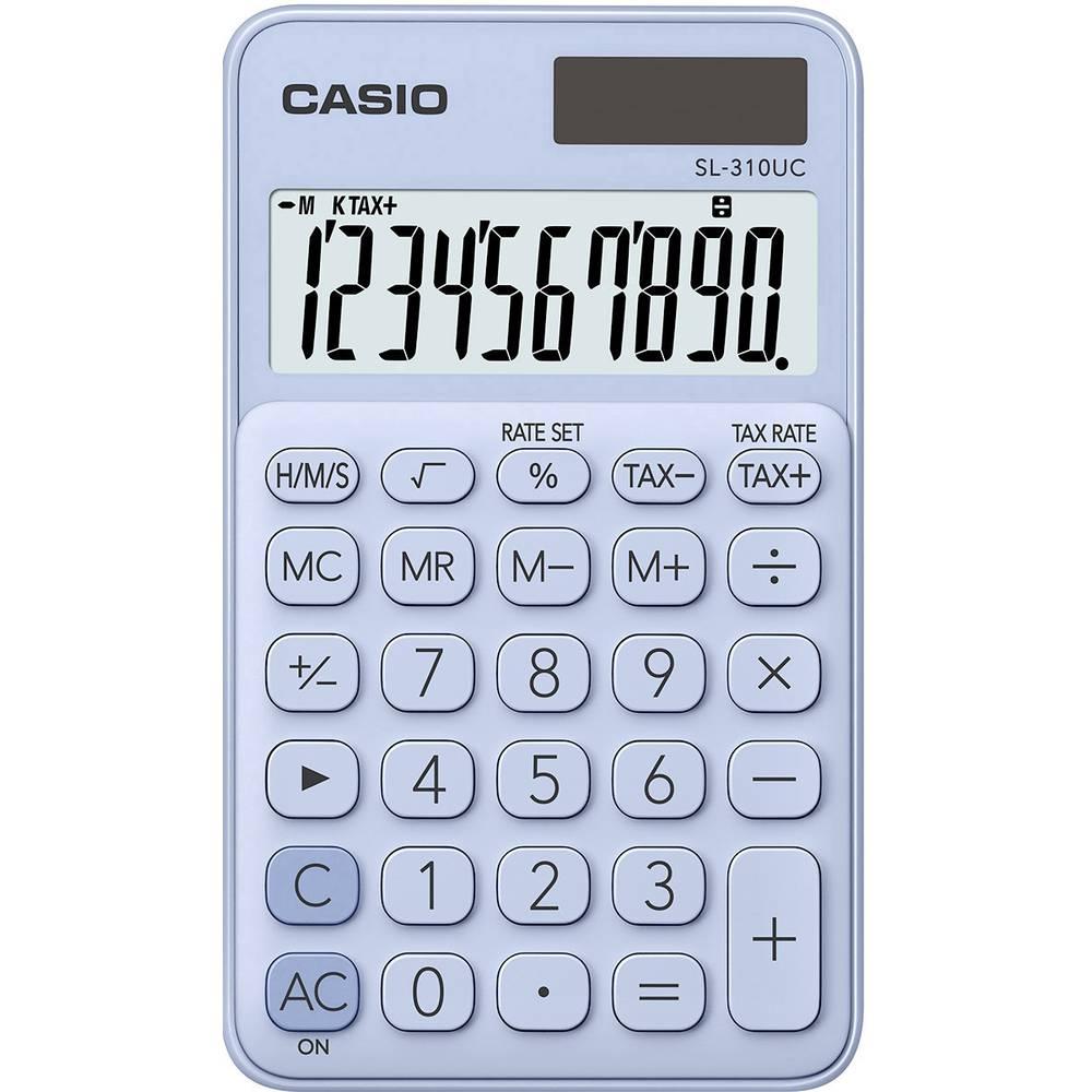 Casio SL-310UC kapesní kalkulačka světle modrá Displej (počet míst): 10 solární napájení, na baterii (š x v x h) 70 x 8 x 118 mm