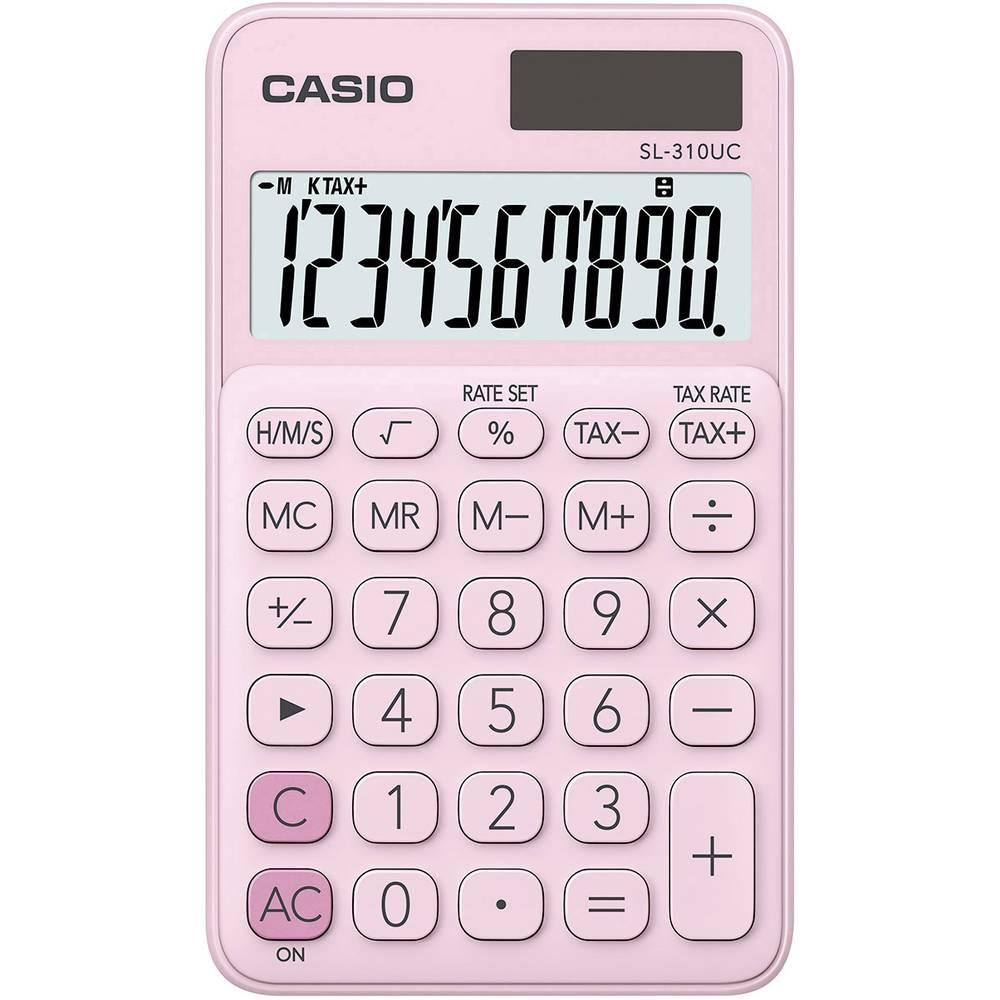 Casio SL-310UC kapesní kalkulačka růžová Displej (počet míst): 10 solární napájení, na baterii (š x v x h) 70 x 8 x 118 mm