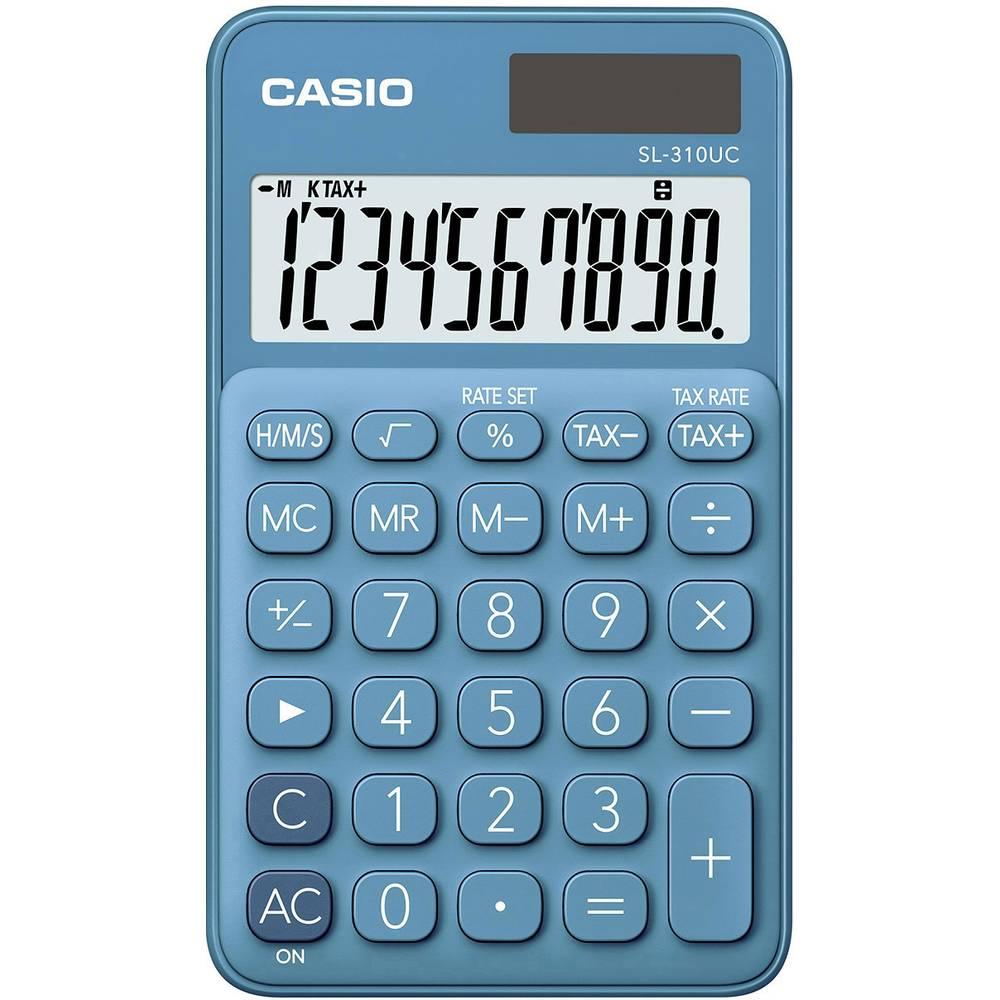 Casio SL-310UC kapesní kalkulačka modrá Displej (počet míst): 10 solární napájení, na baterii (š x v x h) 70 x 8 x 118 mm