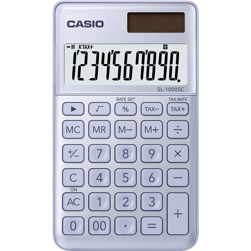 Casio SL-1000SC kapesní kalkulačka modrá Displej (počet míst): 10 solární napájení, na baterii (š x v x h) 71 x 9 x 120 mm