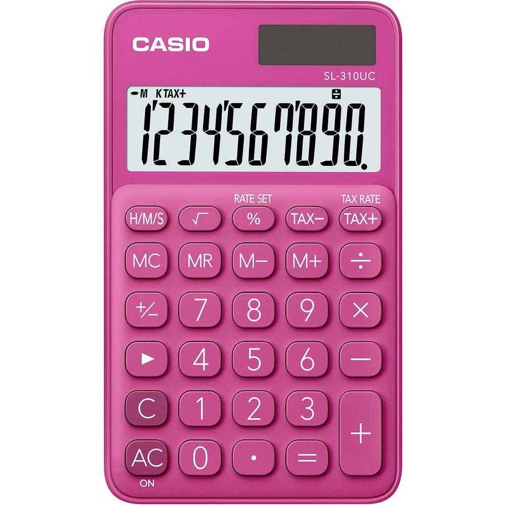 Casio SL-310UC kapesní kalkulačka červená Displej (počet míst): 10 solární napájení, na baterii (š x v x h) 70 x 8 x 118 mm