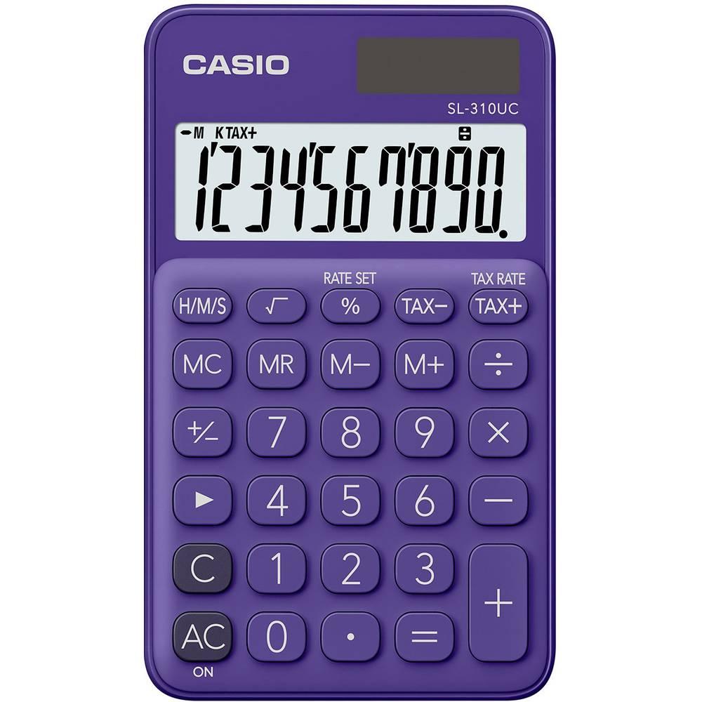 Casio SL-310UC kapesní kalkulačka fialová Displej (počet míst): 10 solární napájení, na baterii (š x v x h) 70 x 8 x 118 mm