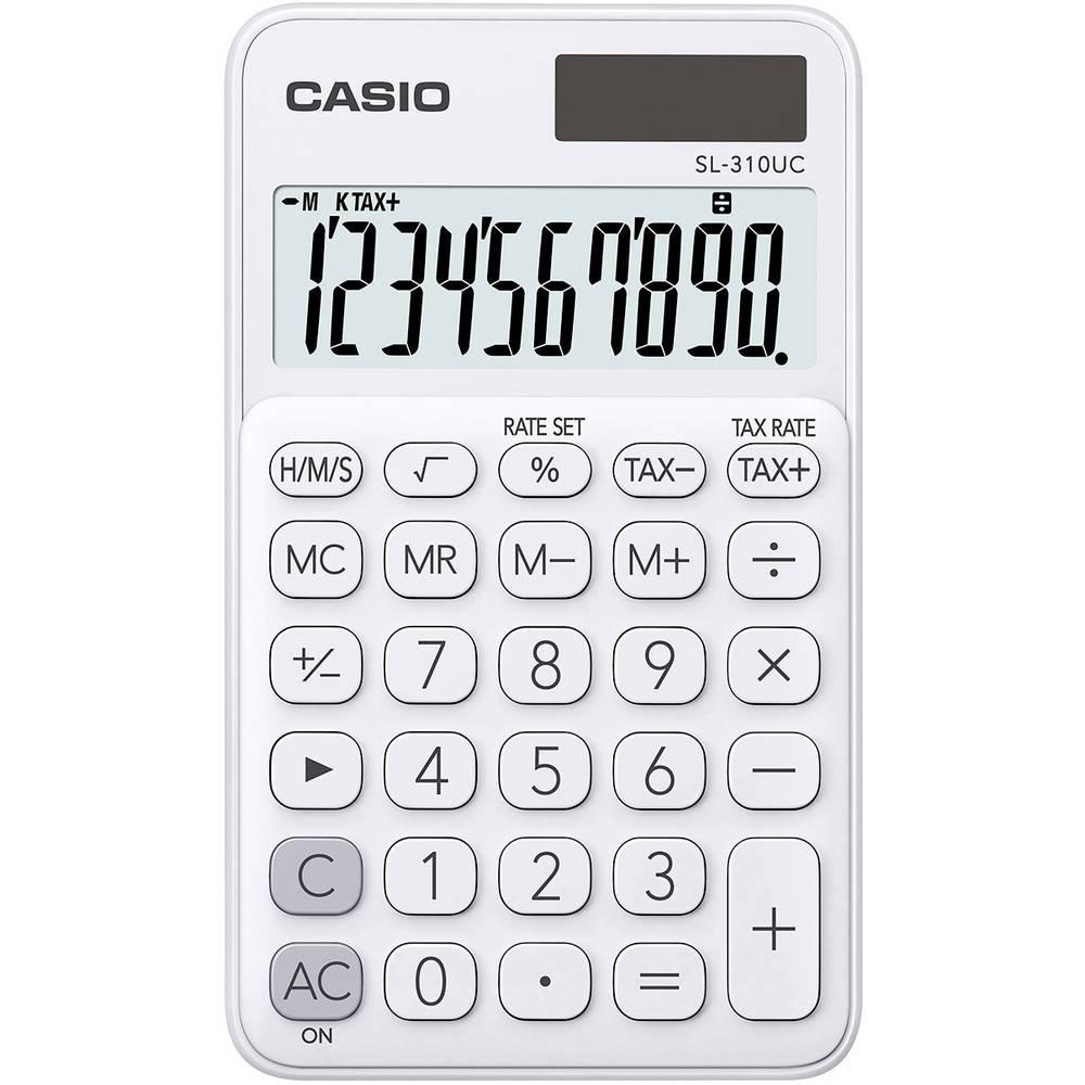 Casio SL-310UC kapesní kalkulačka bílá Displej (počet míst): 10 solární napájení, na baterii (š x v x h) 70 x 8 x 118 mm