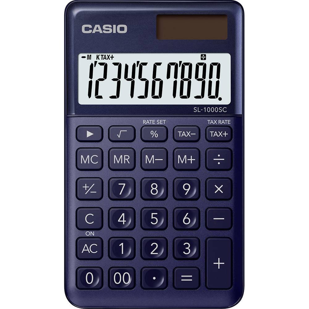Casio SL-1000SC kapesní kalkulačka námořnická modrá Displej (počet míst): 10 solární napájení, na baterii (š x v x h) 71 x 9 x 120 mm