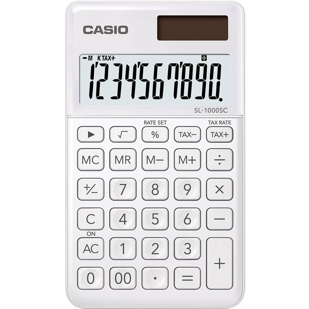 Casio SL-1000SC kapesní kalkulačka bílá Displej (počet míst): 10 solární napájení, na baterii (š x v x h) 71 x 9 x 120 mm