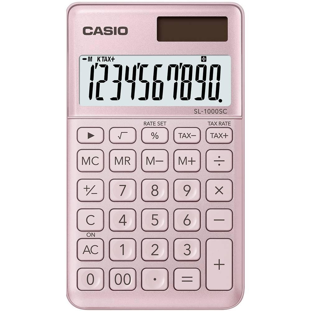 Casio SL-1000SC kapesní kalkulačka růžová Displej (počet míst): 10 solární napájení, na baterii (š x v x h) 71 x 9 x 120 mm