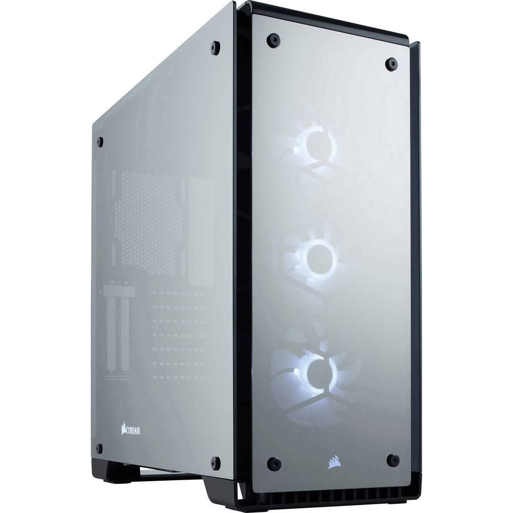 Corsair Crystal 570X RGB Mirror Black Tempered Glass midi tower PC skříň černá 3 předinstalované LED ventilátory, prachový filtr