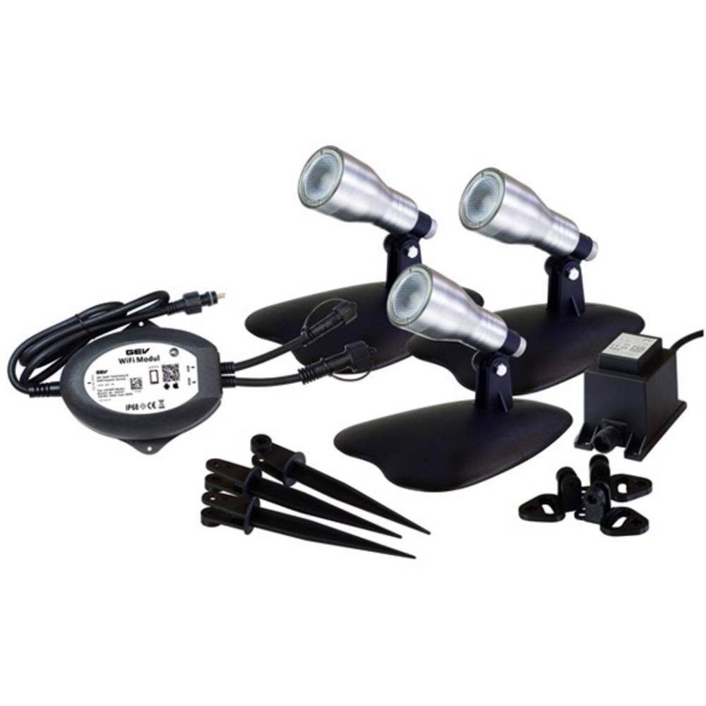 GEV Viola 022232 sada LED zahradních světel LED 12 W antracitová
