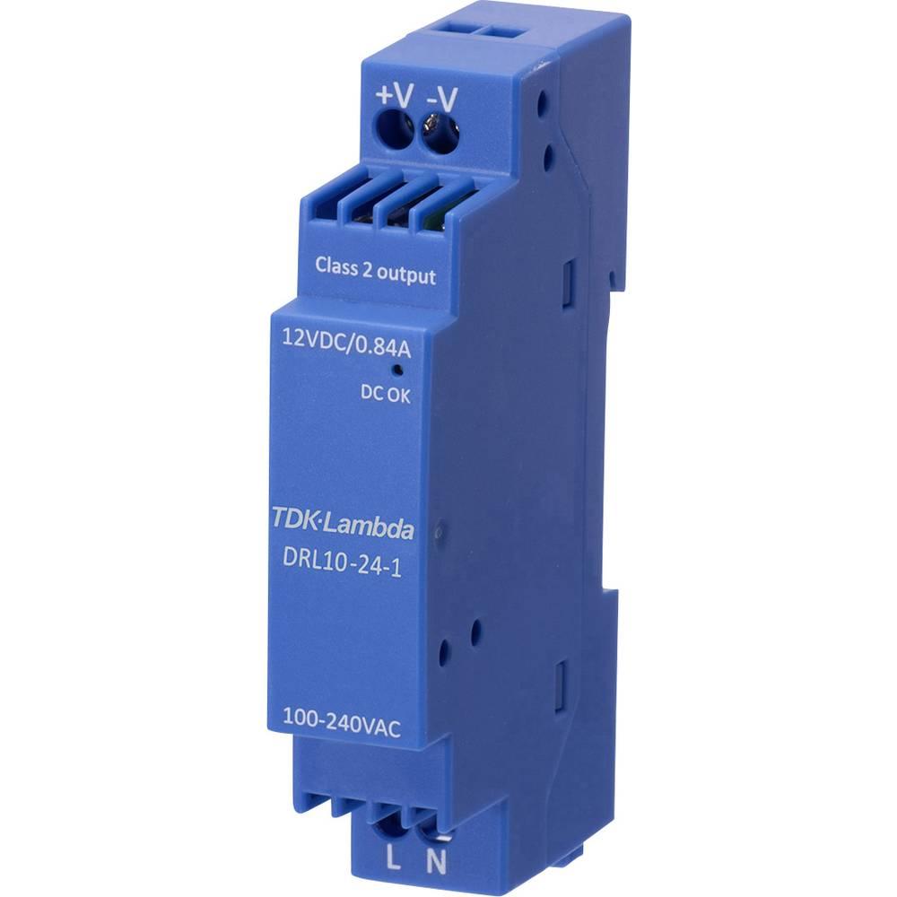 TDK-Lambda DRL-10-12-1 síťový zdroj na DIN lištu, 12 V, 0.84 A, 10.08 W