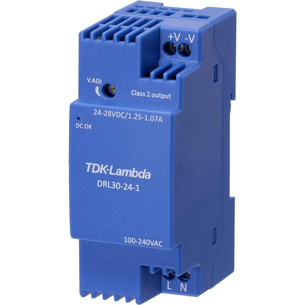 TDK-Lambda DRL-30-24-1 síťový zdroj na DIN lištu, 24 V, 1.25 A, 30 W