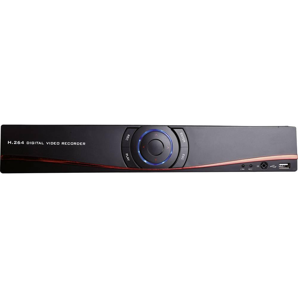 m-e modern-electronics 55325 DVR 3004 4kanálový síťový IP videorekordér (NVR) pro bezp. kamery