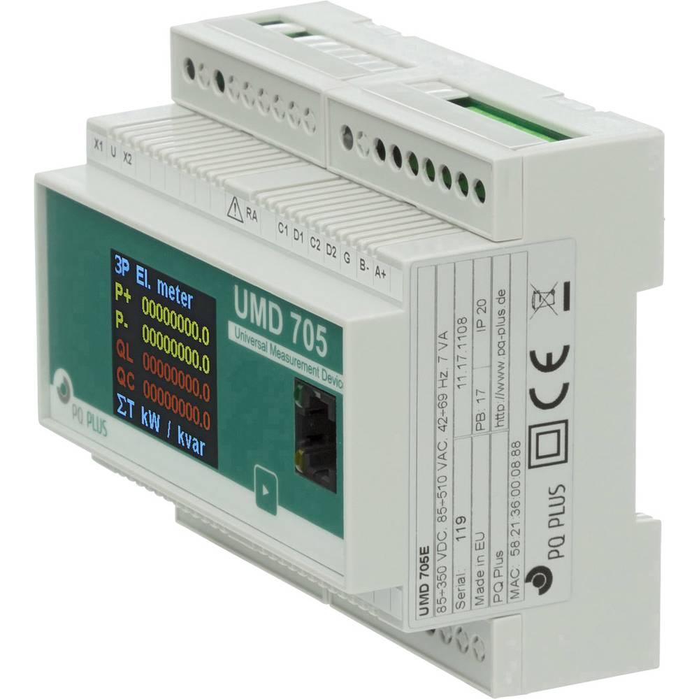 PQ Plus UMD 705E digitální měřič na DIN lištu Univerzální měřicí přístroj - montáž na din lištu UMD série