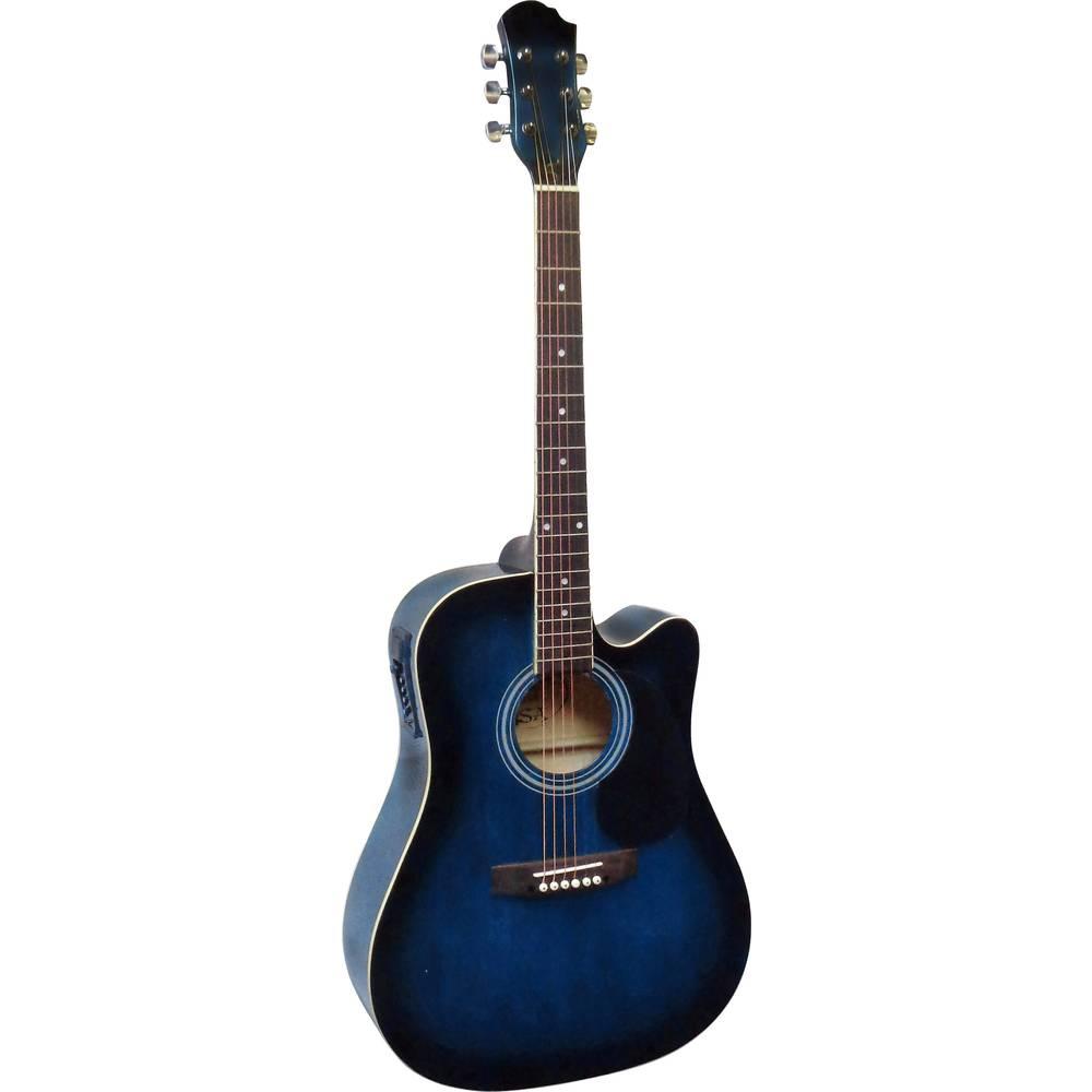 MSA Musikinstrumente CW 196 elektronická westernová kytara 4/4 modrá