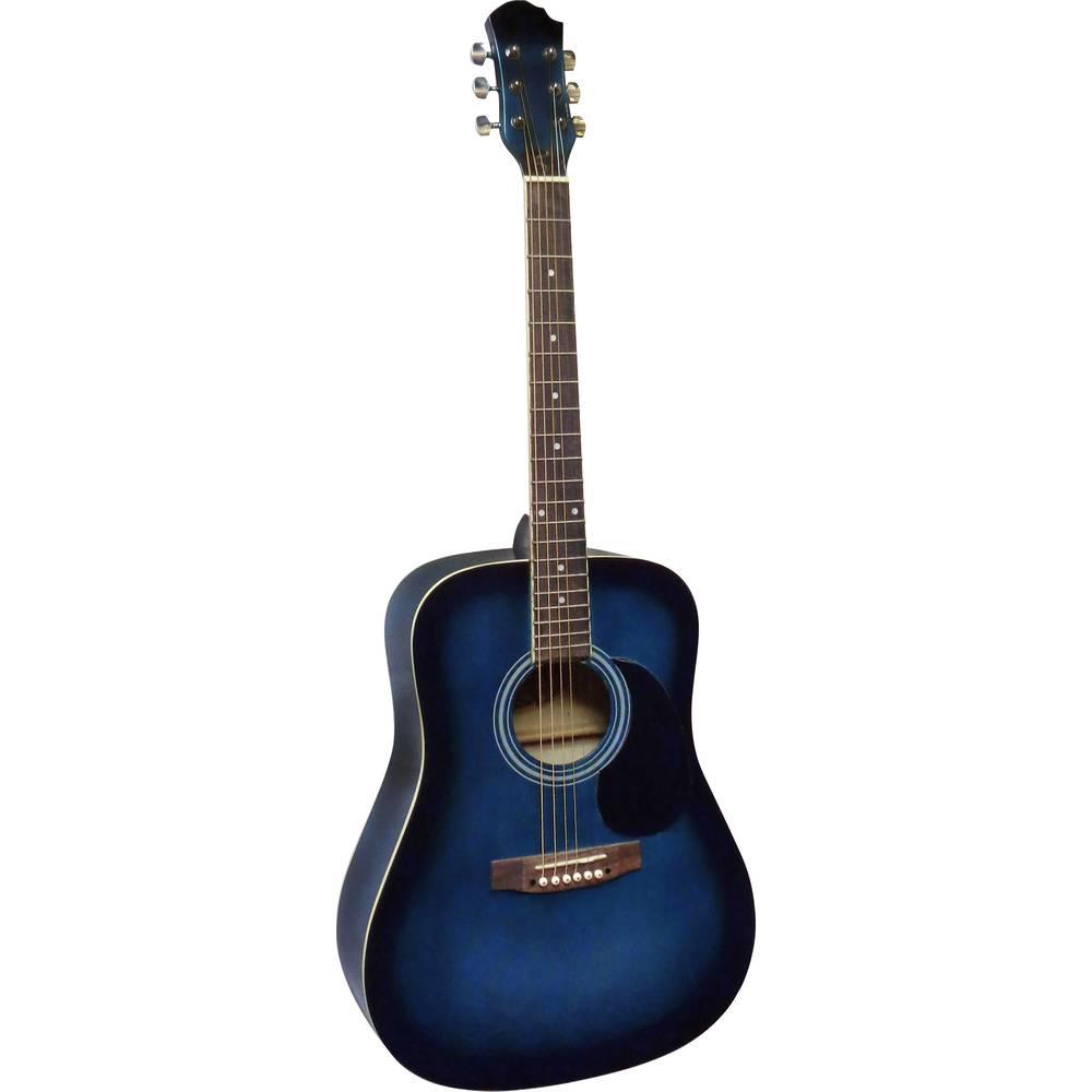 MSA Musikinstrumente CW 185 westernová kytara 4/4 modrá