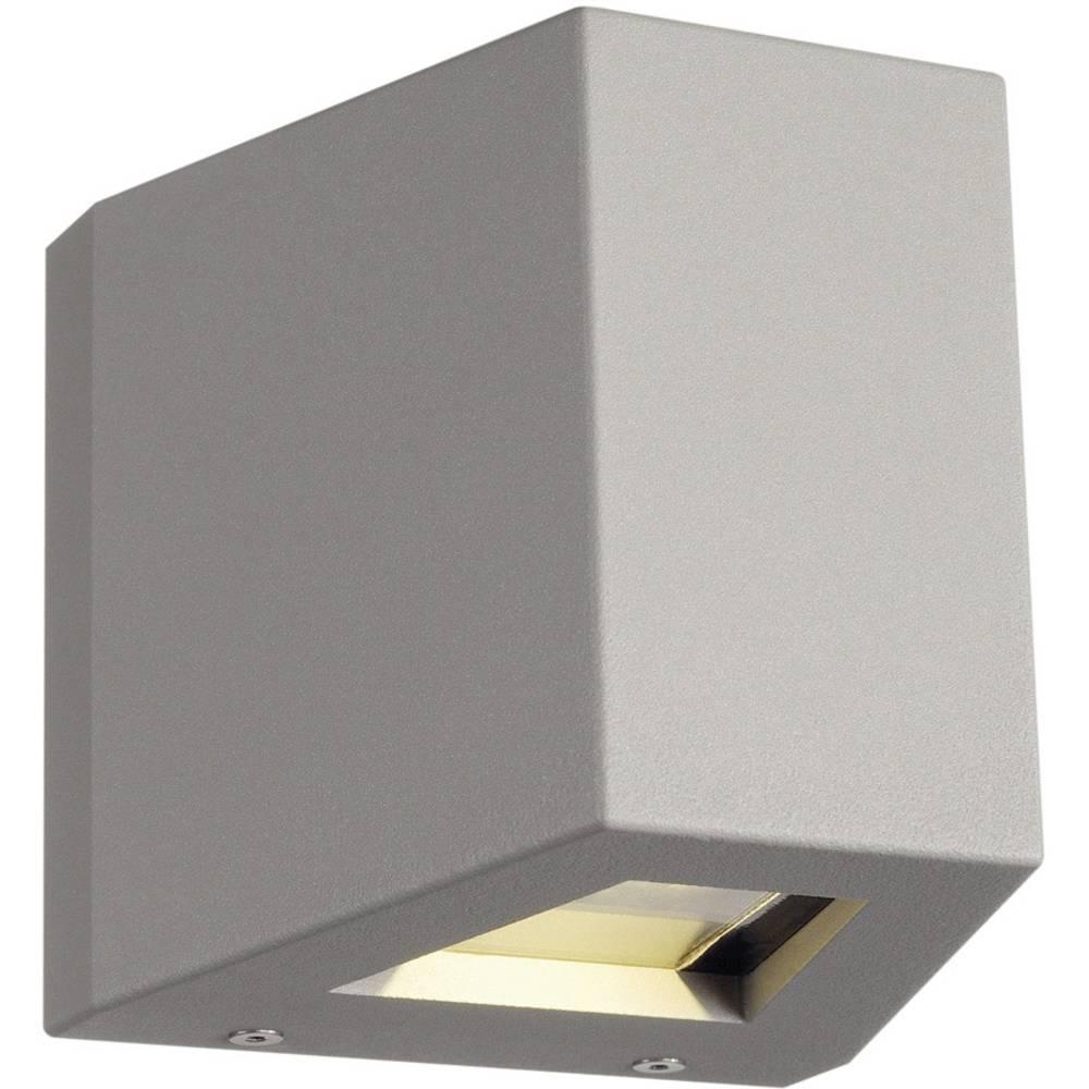 SLV 229664 venkovní nástěnné LED osvětlení 18 W stříbrná