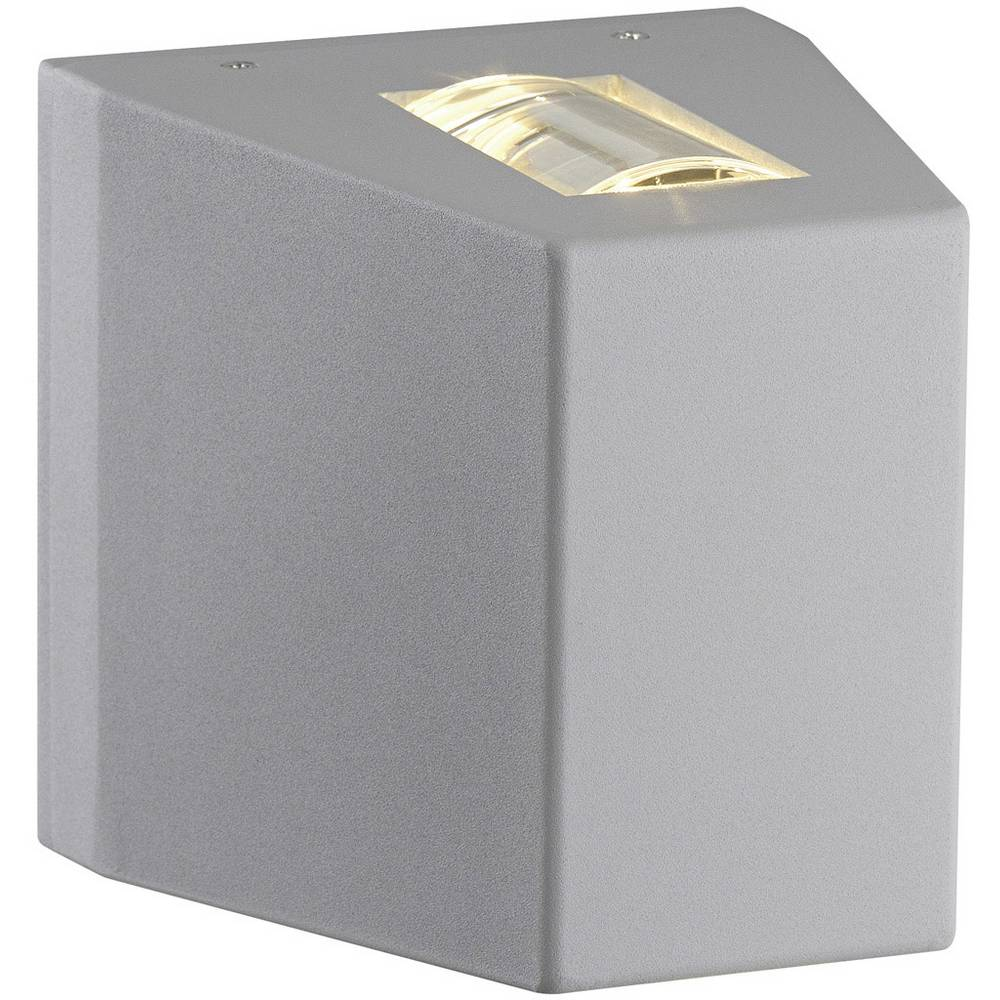 SLV 229694 venkovní nástěnné LED osvětlení 15 W stříbrnošedá