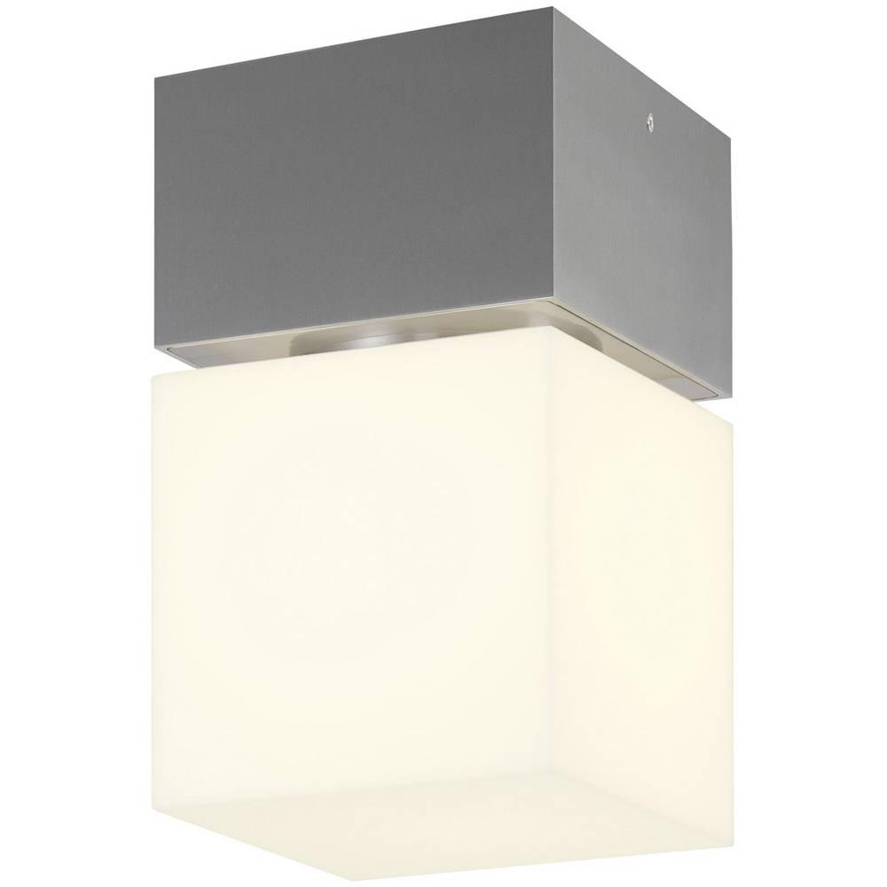 SLV 1000337 Square venkovní stropní osvětlení LED, úsporná žárovka E27 20 W nerezová ocel