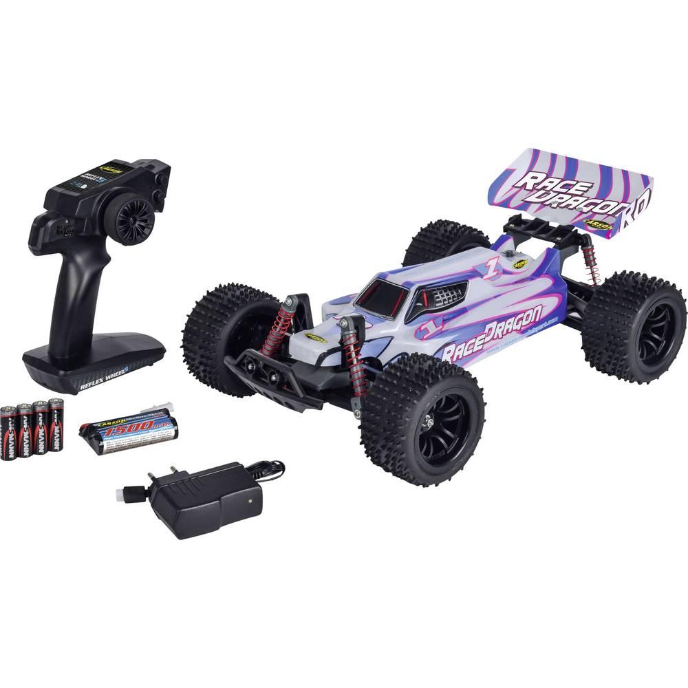 Carson Modellsport komutátorový 1:10 RC model auta elektrický Buggy zadní 2WD (4x2) 100% RtR 2,4 GHz vč. akumulátorů, nabíječky a baterie ovladače