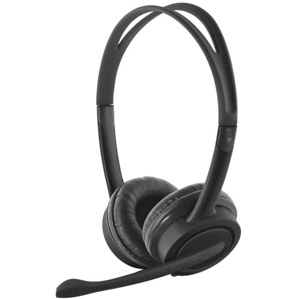 Trust Mauro headset k PC s USB na kabel na uši černá