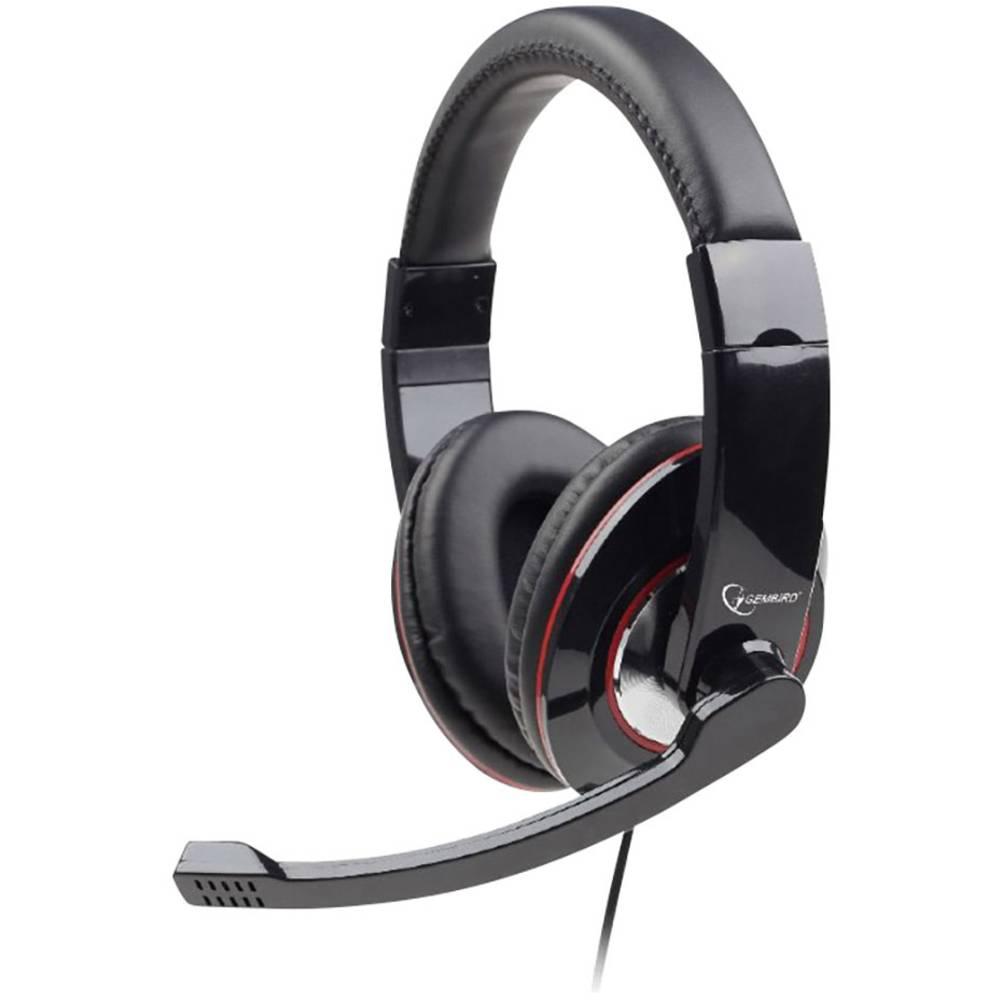 Gembird MHS-U-001 headset k PC s USB na kabel přes uši černá