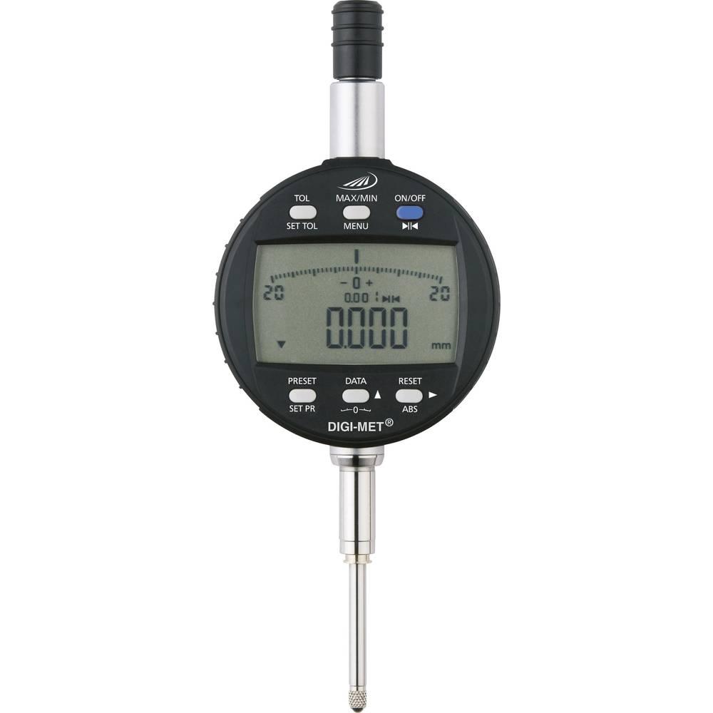HELIOS PREISSER 1734506 stopky s digitálním displejem 25.0 mm Odečet: 0.001 mm
