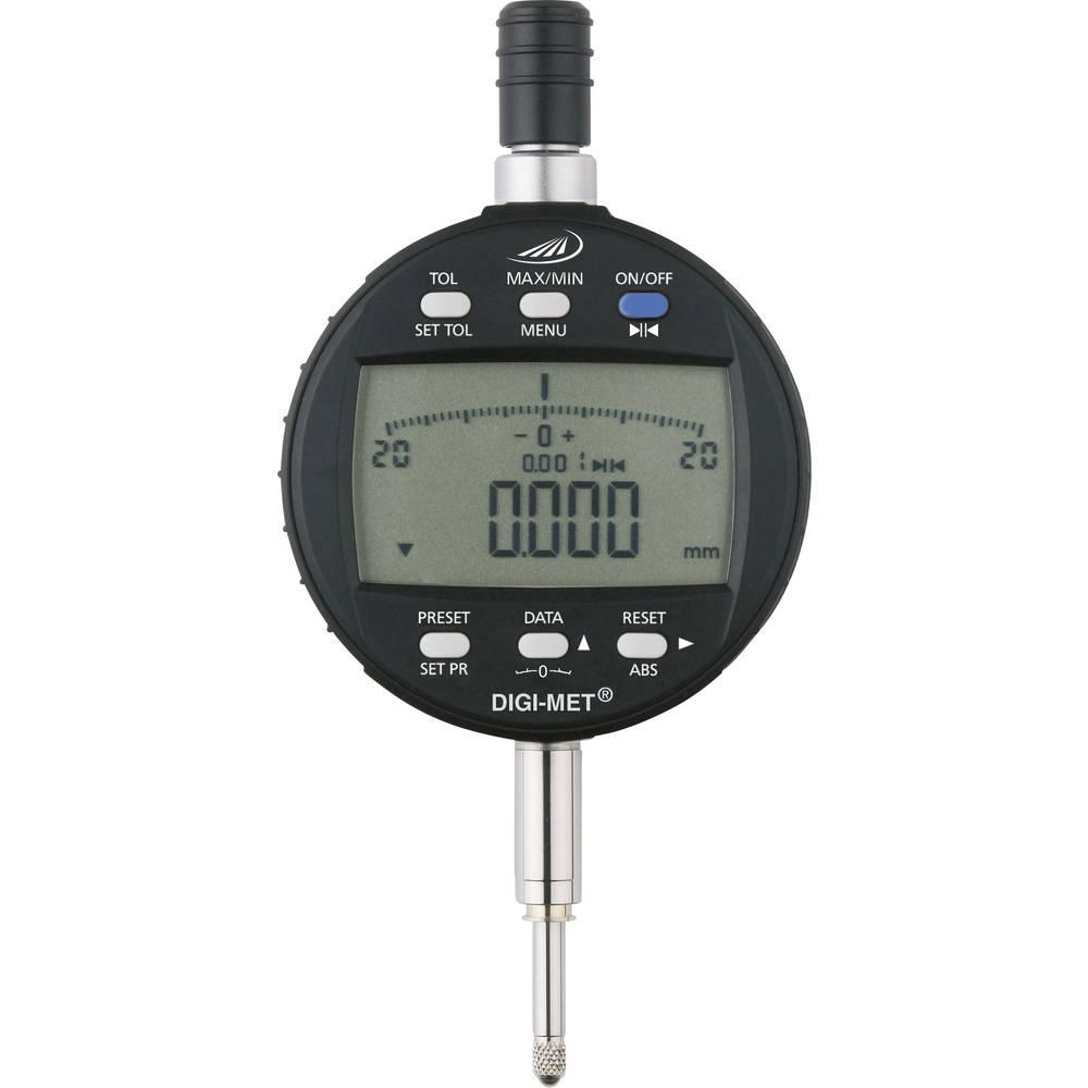 HELIOS PREISSER 1734502 stopky s digitálním displejem 12.5 mm Odečet: 0.001 mm