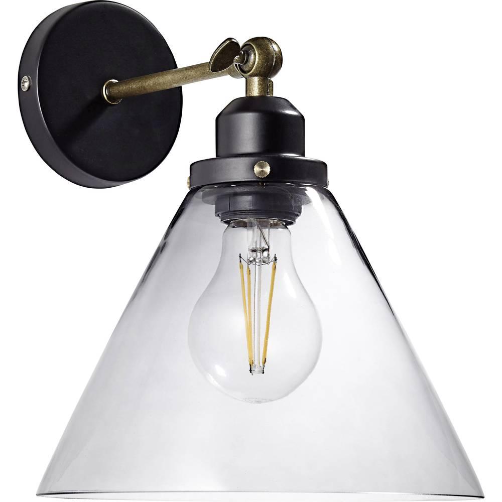 Brilliant Ronald 94273/93 nástěnné světlo E27 60 W LED černá, starožitná mosaz, kouřová